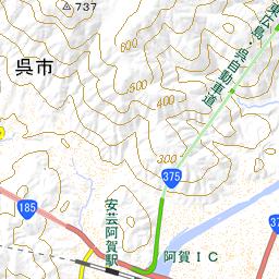 二級橋(広島県呉市)地図
