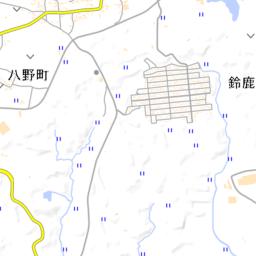 亀山市東部マップ